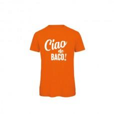 Ciao de Baco T-SHIRT oranje