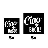 Ciao de Baco stickers (10x)